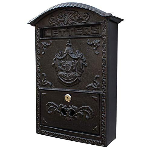 CMmin brievenbus muur mount staal post doos afsluitbare brievenbus w/ophalen deur sleutels Home Office Post beveiliging buiten24.5X8.2X34.5cm