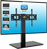 FORGING MOUNT Swivel Univerial TV Stand Table Top TV Base for 37-70 inch LCD LED OLED 4K TVs-Height Adjustable TV Mount Stand with Tempered Glass Base & Wire Management,VESA 600x400mm Holds up to 99lb