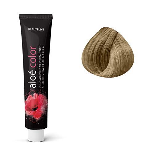 Coloration crème à l'aloé véra et au marula Dorés, 9.03 : Blond Très Clair Naturel Doré Beautélive
