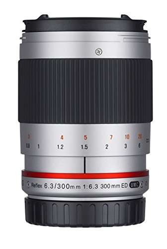 Samyang Reflex f/6.3 300mm MFT MILC Plata - Objetivo (MILC, 9/9, 0,9 m, Micro Cuatro Tercios, Manual, 30 cm)