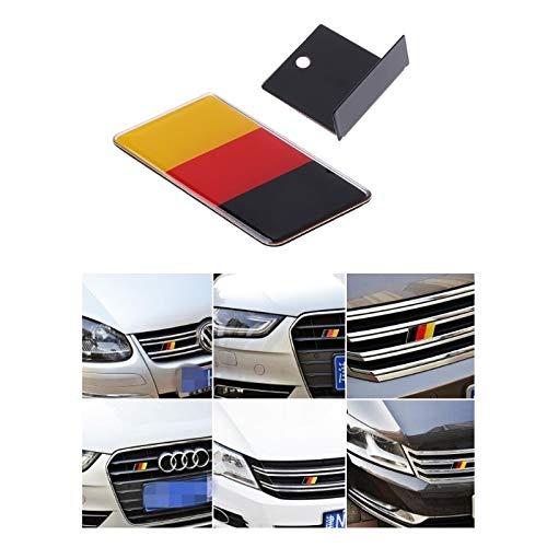 Essming Bandera Alemana Grille Emblema Insignia para Volkswagen Scirocco Golf 7 Golf 6 Polo GTI VW Tiguan para Audi A4 A6 Accesorios para automóviles 1pc