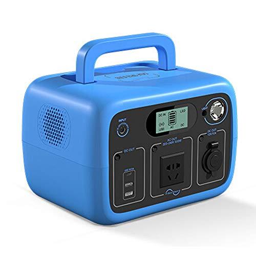 Generatore Portatile Power Inverter 300WH Batteria Ricaricabile Alimentazione di Emergenza, Caricato dal Pannello Solare Presa a Muro per Campeggio, CPAP Backup di Emergenza Batteria