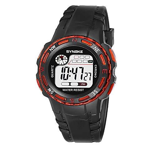 lqgpsx - Reloj Digital para niños y niñas, multifunción, Resistente al Agua,...