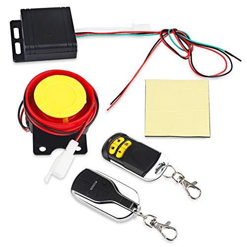 Sistema de alarma de seguridad para motocicleta, alarma de motor de scooter de motocicleta con carcasa de llave de control remoto con arranque remoto