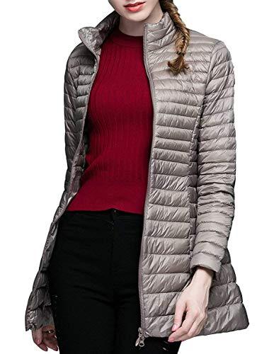 Damen Packable Ultralight Long Puffer Jacke Mantel Windbreaker