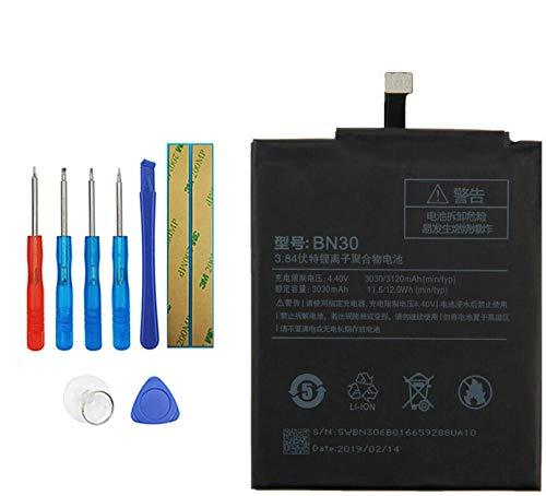 E-YIIVIIL BN30 Batería de repuesto compatible con Xiaomi Redmi 4A con kit de herramientas.