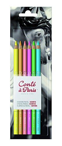 Conté à Paris Pastel Pencils with 6 Count Assorted Bright Colors