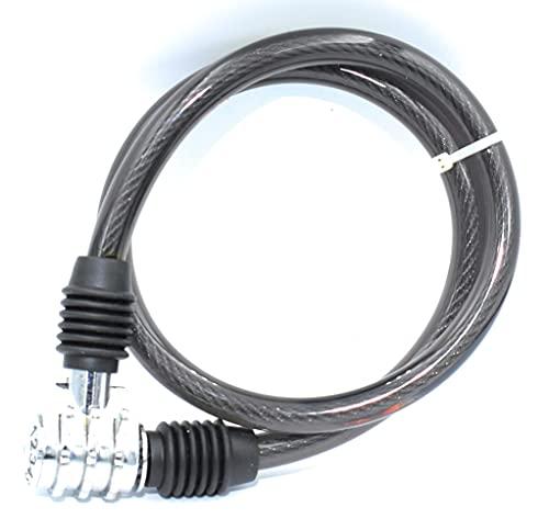 Candado de Bicicleta, cable de acero de 10 mm de diámetro y 650 mm de longitud. Cerradura antirrobo con 3 dígitos de combinación fija.