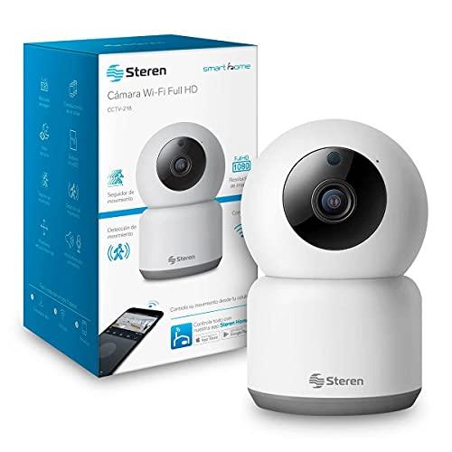 STEREN CCTV-218 Cámara de Seguridad Wi-Fi HD robotizada, visión Nocturna, Audio bidireccional