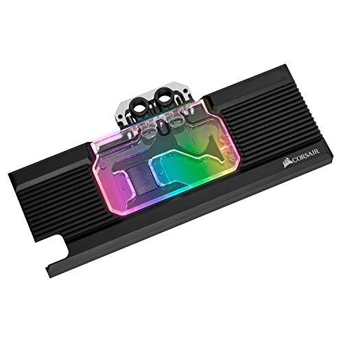 Corsair Hydro X Serie, XG7 RGB 20-SERIES GPU Water Block (2080 FE), Precisione Struttura, Alluminio Backplate, Personalizzabili Illuminazione RGB, Nero