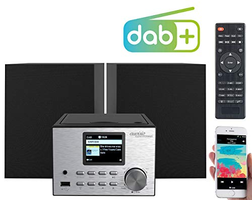 auvisio Mini Stereoanlage: Micro-Stereoanlage mit Webradio, DAB+, FM, CD, Bluetooth, USB, 60 Watt (Stereoanlage mit Internetradio)