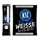 DeinDesign Skin kompatibel mit Microsoft Xbox 360 Folie Sticker KSC Karlsruher SC Offizielles Lizenzprodukt