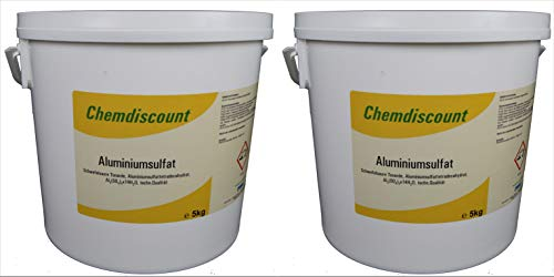 Chemdiscount 10kg (2x5kg) Aluminiumsulfat, 17/18%, Dünger, Flockmittel, Isoliersalz