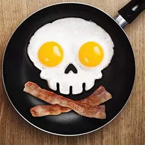 Caeasar Molde de Huevo de Silicona Lindo de Dibujos Animados Molde de Huevos fritos Antiadherente Hervidores para Huevos
