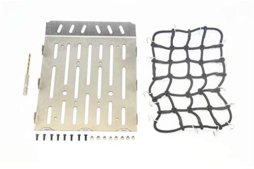 Stainless Steel Truck Trunk Lid (Style A) + Cargo Net for Traxxas TRX-6 Mercedes-Benz G63 (88096-4) - 20Pc Set