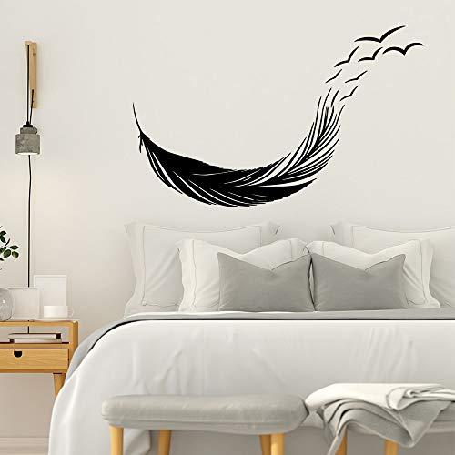AKmene Pegatinas de Pared de PVC de Plumas Modernas, utilizadas para la decoración del hogar y Accesorios Decorativos, Pegatinas de Pared, utilizadas para la Sala de Estar de 42 cm X 67 cm