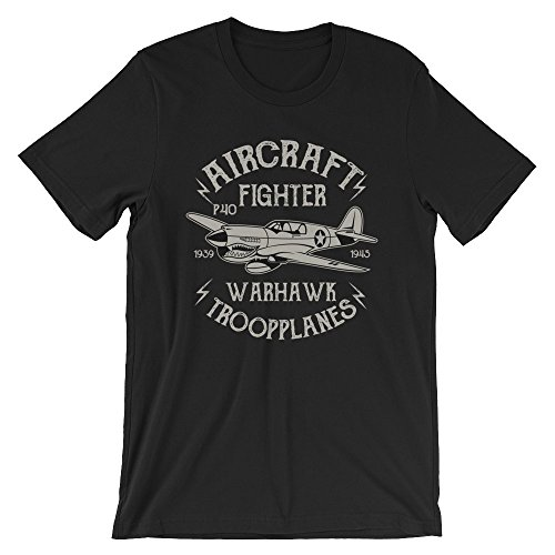 Ground 29 Classic Warhawk P40 Aircraft Troop Fighter Planes Men's Tee (Small)