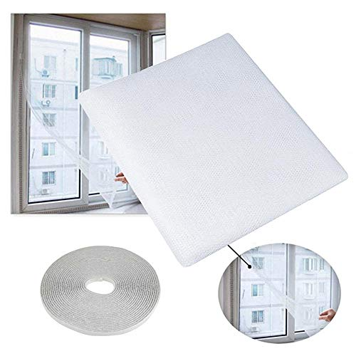 ERTY 150 X 130 Cm Fly Mosquito Window Net Mesh Screen Indoor Insect Fly Screen Curtain Mesh Bug Mosquito Net Blanco
