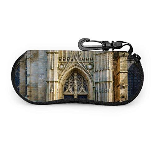 ARRISLIFE Romance Gothic Architecture Church Case of Glasses Sunglasses - Custodia da viaggio leggera in neoprene con chiusura lampo