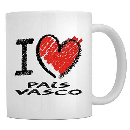 Teeburon I love Pais Vasco chalk style Taza cerámica 11 onzas