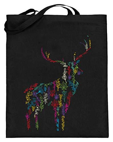 Bolsa de yute para todos los cazadores y aficionados al ciervo (con asas largas), color Negro, talla...