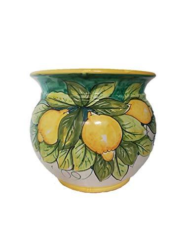 Centro Ardolino Vaso in Ceramica Stile vietri Dipinto a Mano
