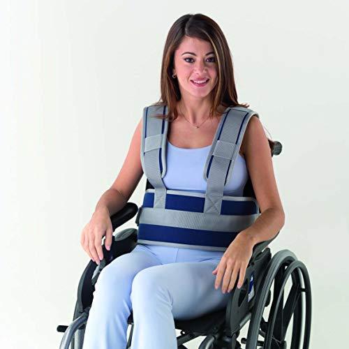 Obbocare - Cinturón Abdominal Para Sujeción De Tronco Para Silla De Ruedas. Cinturón Con Tirantes Con Cierre De Clip Y Rápido Ajuste. Anticaídas. Talla 1