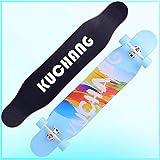 YSCYLY Cruiser Skateboard,Planche de Danse Professionnelle Longboard Road,pour Enfants Et Adolescents