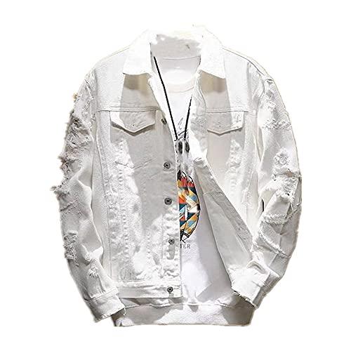 Otoño rasgado ropa de mezclilla fresco chaqueta de la motocicleta joven Corea pareja desgaste