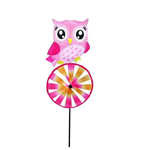 Black Temptation Reizende rosa Eulen-Muster-Windmühle-Windräder spielt für Kinder