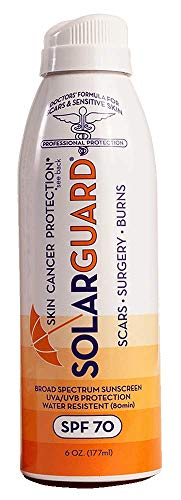 Scarguard Solarguard Sunscreen | SPF 70 UVA/UVB Protection, Broad-Spectrum & Water Resistant | Specially Formulated For Scars and Sensitive Skin | 6 oz