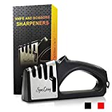 Sync Living Knife and Scissor Sharpeners,4 Stage Knife Sharpener, 4-in-1 Knife and Scissors