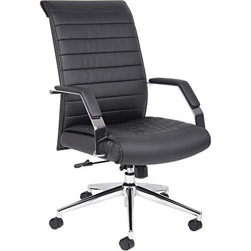 Office Furniture Online Chefsessel aus Lederfaserstoff mit hoher Rückenlehne | Identity | Schwarz
