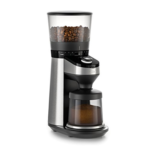 OXO On Conical Burr Coffee Grinder with Integrated Scale, Silver