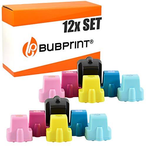 Bubprint 12 Druckerpatronen kompatibel für HP 363 HP363 für Photosmart 3100 Series 3110 3210 3310 8250 C5150 C5180 C6180 C6280 C7180 C7280 C8180 D6160