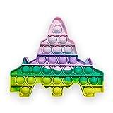 EUROXANTY Juguete sensorial Pop Burbujas   Antiestrés   Juego Entretenimiento   Lavable   Motricidad Fina   Multicolor Avión