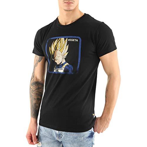 Capslab T-Shirt Homme Dragon Ball Z Vegeta Saiyan Noir