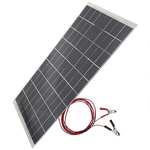 Jarchii Pannelli solari, 30W 12V semiflessibile Apparecchiatura del Pannello Solare Dispositivo Caricabatteria per Auto per apparecchi elettrici Luci di Emergenza Luci pubblicitarie Semafori