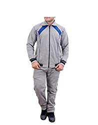 Krystle Mens Light Grey Cotton Warm Tracksuit