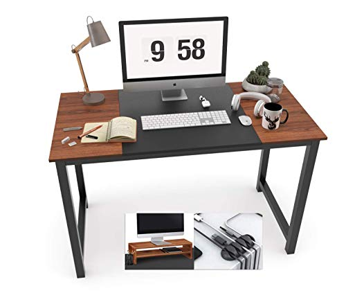 Computer Desk, 47.2 Inch Study Writing Desk for Home Office Workstation, Modern Simple Style Laptop Table with Computer Stand