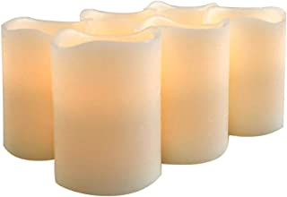 Flameless Flickering Candles Battery Operated with Cycling 24 Hours Timer Set of 6 LED Candle for Garden Wedding,Party, Christmas Decorations etc