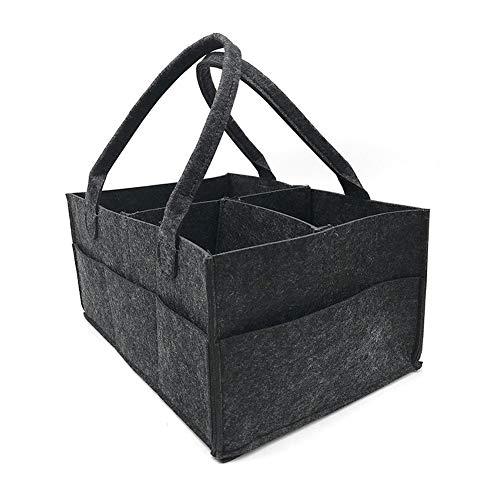 Diaper bag Sac Felt du Nouveau-né Couche de Stockage, Compartiment Sac à Couches Replaceable, Maman Portable Panier Stockage Voyage