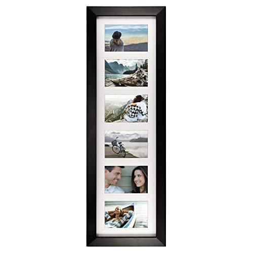 Malden 4x6 6Opening Collage Matted Picture Frame, Displays Six, Bl