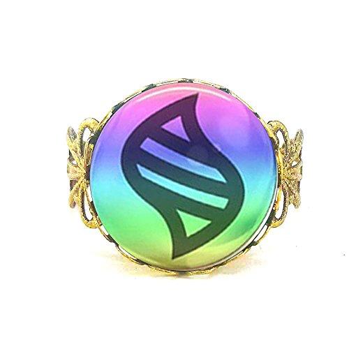Game Cartoon Ball Mega Stone Ring Brass Ring Gift Idea Jewelry