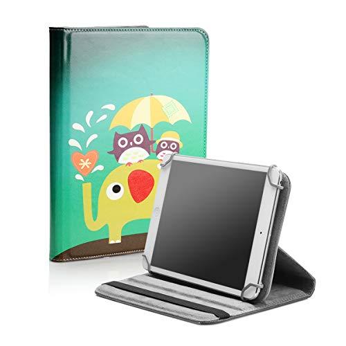 BEISK Funda Universal para Tablet de 7-8 Pulgadas, con Sistema Giratorio de 360º, Rotación, Protección, con Soporte, para Huawei Mediapad/Samsung Galaxy Tab/Lenovo, Etc. Animales…