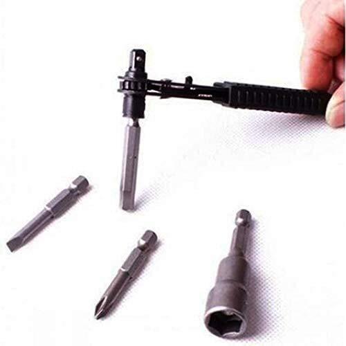 Bonne anti-corrosion et anti-rouille Werkzeuge for Home Nützliche Kits 6,35 mm 1/4 Zoll Mini Einfach Schnelle Ratschenschlüssel Schraubendreher Sockel Rod dureté élevée, un couple élevé