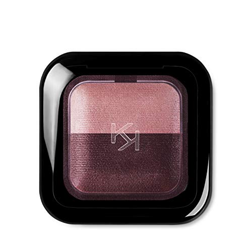 KIKO Milano Bright Duo Baked Eyeshadow, 2,5 g 14 satijn ancient roos - matte wijn