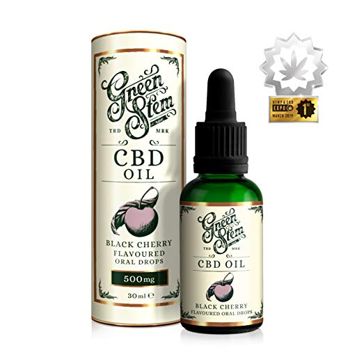 Green Stem Black Cherry CBD Oil 500mg