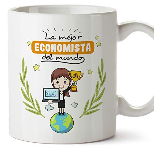 MUGFFINS Taza Economista Mujer (Mejor del Mundo) - Regalos Originales y Divertidos de Economía