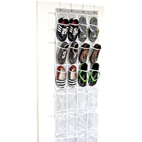 SimpleHouseware Crystal Clear 24 Pockets Hanging Shoe Organizer